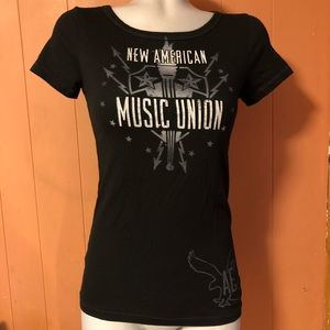 AEO New American Music Union Tee, Size Small